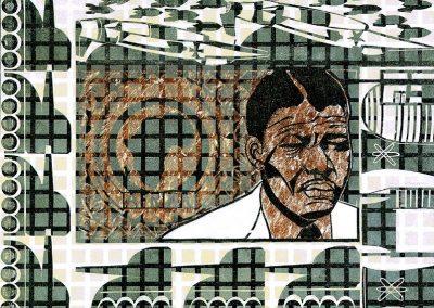Free Nelson Mandela, Holzschnitt 1989